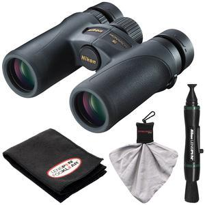 Nikon Monarch 7 8x30 ED ATB Waterproof - Fogproof Binoculars with Case + Cleaning + Accessory Kit