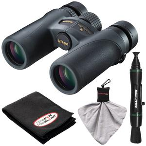 Nikon Monarch 7 10x30 ED ATB Waterproof-Fogproof Binoculars with Case and Cleaning and Accessory Kit