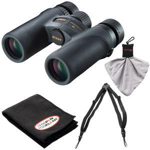 Nikon Monarch 7 10x30 ED ATB Waterproof-Fogproof Binoculars with Case and Easy Carry Harness and Cleaning Cloth Kit