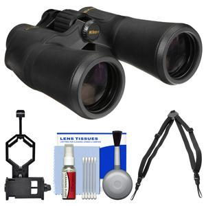 Nikon Aculon A211 10x50 Binoculars with Case with Harness Strap and Smartphone Adapter and Cleaning Kit