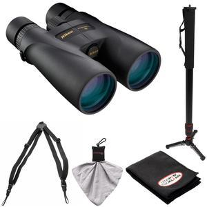Nikon Monarch 5 20x56 ED Waterproof-Fogproof Binoculars with Case and Harness and Monopod and Kit