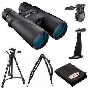 Nikon Monarch 5 8x56 ED Waterproof-Fogproof Binoculars with Case and Nikon Tripod and Window Mount and Tripod Adapter and Harness and Accessory Kit