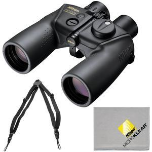 Nikon OceanPro 7x50 Global Compass Waterproof-Fogproof Binoculars with Case and Harness and Cleaning Cloth