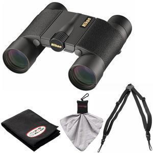 Nikon Premier LX L 10x25 Waterproof-Fogproof Binoculars with Case with Harness and Cleaning Kit