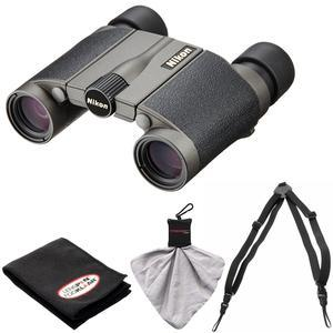 Nikon Premier LX L 8x20 Waterproof-Fogproof Binoculars with Case with Harness and Cleaning Kit