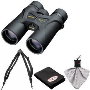 Nikon Prostaff 3S 10x42 Waterproof - Fogproof Binoculars with Case + Easy Carry Harness + Cleaning Cloth Kit