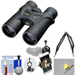 Nikon Prostaff 3S 8x42 Waterproof - Fogproof Binoculars with Case + Harness + Smartphone Adapter + Cleaning Kit