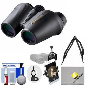 Nikon Prostaff 10X25 Waterproof-Fogproof Binoculars with Case and Harness and Smartphone Adapter and Cleaning Kit