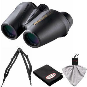 Nikon Prostaff 12X25 Waterproof-Fogproof Binoculars with Case and Easy Carry Harness and Cleaning Cloth Kit