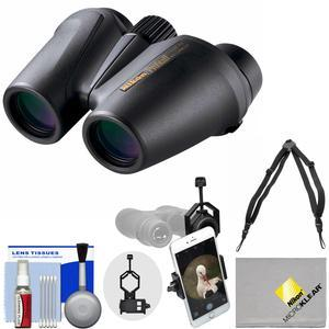 Nikon Prostaff 12X25 Waterproof-Fogproof Binoculars with Case and Harness and Smartphone Adapter and Cleaning Kit