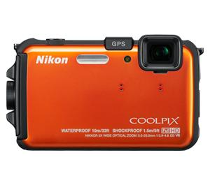 Nikon Coolpix AW100 Shock + Waterproof GPS Digital Camera (Orange) - Factory Refurbished includes Full 1 Year Warranty at Sears.com