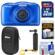 Nikon Coolpix W100 Wi-Fi Shock & Waterproof Digital Camera (Blue) with 32GB Card + Case + Floating Handle + Kit