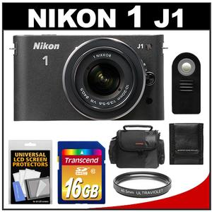 Nikon 1 J1 Digital Camera Body + 10-30mm VR Lens (Black) - Factory Refurbished + 16GB Card + Case + Filter + Remote + Accessory Kit at Sears.com