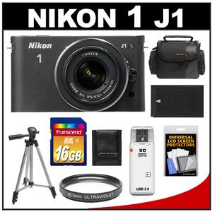 Nikon 1 J1 Camera Body + 10-30mm VR Lens  - Factory Refurbished + 16GB Card + Case + Battery + Filter + Tripod + Accessory Kit at Sears.com