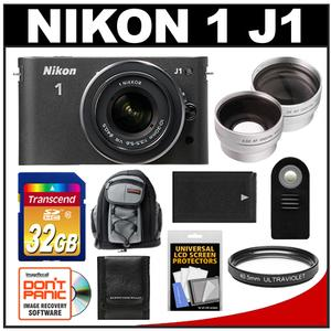 Nikon 1 J1 Camera + 10-30 VR Lens  - Factory Refurbished + 32GB Card + Backpack + Battery + 2 Lens Set + Filter + Remote + Acc Kit at Sears.com