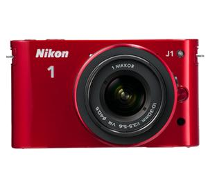 Nikon 1 J1 Digital Camera Body with 10-30mm VR Lens (Red) at Sears.com