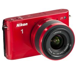 Nikon 1 J1 Digital Camera Body with 10-30mm VR Lens (Red) - Factory Refurbished includes Full 1 Year Warranty at Sears.com