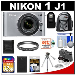 Nikon 1 J1 Camera Body + 10-30mm VR Lens  + 32GB Card + Battery + Backpack + Lens Set + Filter + Remote + Tripod + Accessory Kit at Sears.com