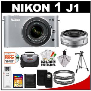 Nikon 1 J1 Camera Body + 10mm f/2.8 + 10-30mm VR Lens  + 32GB Card + Case + (2) UV Filters + Tripod + Wireless Remote + Acc Kit at Sears.com