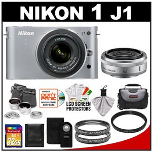 Nikon 1 J1 Camera Body + 10mm f/2.8 + 10-30mm VR Lens  + 32GB Card + Case + (2) UV Filters + Lens Set + Wireless Remote + Acc Kit at Sears.com