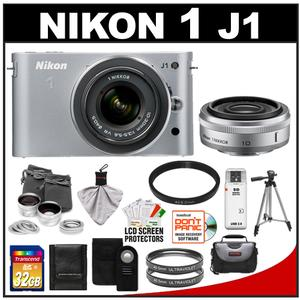 Nikon 1 J1 Camera Body + 10mm f/2.8 + 10-30mm VR Lens  + 32GB Card + Case + (2) UV Filters + Lens Set + Tripod + Remote + Acc Kit at Sears.com
