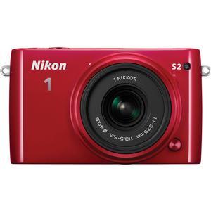 Nikon 1 S2 Digital Camera & 11-27.5mm Lens (Red)