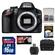 Nikon D3200 Digital SLR Camera Body (Black) - Factory Refurbished with 16GB Card + Case + Accessory Kit