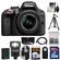 Nikon D3300 Digital SLR Camera & 18-55mm G VR DX II AF-S Zoom Lens (Black) with 32GB Card + Battery + Backpack + 3 Filters + Flash + Tripod + Kit
