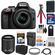 Nikon D3300 Digital SLR Camera & 18-55mm G VR DX II AF-S Zoom Lens (Black) with 55-200mm VR II Lens + 32GB Card + Shoulder Bag + Battery + Charger + Tripod Kit