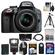 Nikon D3300 Digital SLR Camera & 18-55mm G VR DX II AF-S Zoom Lens (Grey) with 32GB Card + Battery + Backpack + 3 Filters + Flash + Tripod + Kit