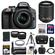Nikon D3300 Digital SLR Camera & 18-55mm G VR DX II AF-S Zoom Lens (Grey) with 55-200mm VR II Lens + 64GB Card + Battery + Case + Grip + Tele/Wide Lens Kit