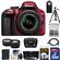 Nikon D3300 Digital SLR Camera & 18-55mm G VR DX II AF-S Zoom Lens (Red) with 32GB Card + Battery + Case + Tripod + Tele/Wide Lens Kit