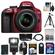 Nikon D3300 Digital SLR Camera & 18-55mm G VR DX II AF-S Zoom Lens (Red) with 32GB Card + Battery + Backpack + 3 Filters + Flash + Tripod + Kit