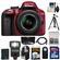 Nikon D3300 Digital SLR Camera & 18-55mm G VR DX II AF-S Zoom Lens (Red) with 32GB Card + Battery + Backpack + 3 Filters + Flash + Tripod + Kit