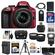 Nikon D3300 Digital SLR Camera & 18-55mm G VR DX II AF-S Zoom Lens (Red) with 32GB Card + Battery & Charger + Case + Tripod + Flash + Tele/Wide Lens Kit