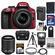 Nikon D3300 Digital SLR Camera & 18-55mm G VR DX II AF-S Zoom Lens (Red) with 55-200mm VR II Lens + 32GB Card + Battery & Charger + Case + Flash + Tripod Kit