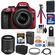 Nikon D3300 Digital SLR Camera & 18-55mm G VR DX II AF-S Zoom Lens (Red) with 55-200mm VR II Lens + 32GB Card + Shoulder Bag + Battery + Charger + Tripod Kit