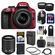 Nikon D3300 Digital SLR Camera & 18-55mm G VR DX II AF-S Zoom Lens (Red) with 55-200mm VR II Lens + 64GB Card + Backpack + Battery & Charger + Tele/Wide Lens Kit