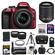 Nikon D3300 Digital SLR Camera & 18-55mm G VR DX II AF-S Zoom Lens (Red) with 55-200mm VR II Lens + 64GB Card + Battery + Case + Grip + Tele/Wide Lens Kit