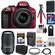 Nikon D3300 Digital SLR Camera & 18-55mm G VR DX II AF-S Zoom Lens (Red) with 55-300mm VR Lens + 32GB Card + Shoulder Bag + Battery & Charger + Tripod + Kit