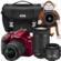 Nikon D3400 Digital SLR Camera & 18-55mm VR, 70-300mm DX AF-P, 35mm f/1.8G Lenses (Red)