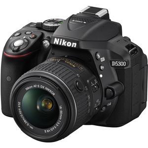 Nikon D5300 Digital SLR Camera & 18-55mm VR DX II AF-S Lens (Black) - Factory Refurbished includes Full 1 Year Warranty