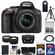 Nikon D5300 Digital SLR Camera & 18-55mm G VR DX II AF-S Zoom Lens (Black) with 32GB Card + Battery + Case + Tripod + Tele/Wide Lens Kit