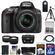 Nikon D5300 Digital SLR Camera & 18-55mm G VR DX II AF-S Zoom Lens (Black) with 32GB Card + Battery + Case + Tripod + Tele/Wide Lens Kit