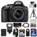 Nikon D5300 Digital SLR Camera & 18-55mm G VR DX II AF-S Zoom Lens (Black) with 32GB Card + Battery + Backpack + 3 Filters + Flash + Tripod + Kit
