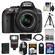 Nikon D5300 Digital SLR Camera & 18-55mm G VR DX II AF-S Zoom Lens (Black) with 32GB Card + Battery + Backpack + 3 Filters + Flash + Tripod + Kit