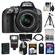 Nikon D5300 Digital SLR Camera & 18-55mm G VR DX II AF-S Zoom Lens (Grey) with 32GB Card + Battery + Backpack + 3 Filters + Flash + Tripod + Kit