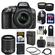 Nikon D5300 Digital SLR Camera & 18-55mm G VR DX II AF-S Zoom Lens (Grey) with 55-200mm VR II Lens + 64GB Card + Backpack + Battery & Charger + Tele/Wide Lens Kit