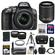 Nikon D5300 Digital SLR Camera & 18-55mm G VR DX II AF-S Zoom Lens (Grey) with 55-200mm VR II Lens + 64GB Card + Battery + Case + Grip + Tele/Wide Lens Kit