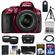 Nikon D5300 Digital SLR Camera & 18-55mm G VR DX II AF-S Zoom Lens (Red) with 32GB Card + Battery + Case + Tripod + Tele/Wide Lens Kit